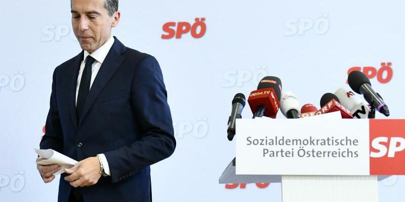 Österreichs Ex-Kanzler Kern - Foto: Hans Punz/APA