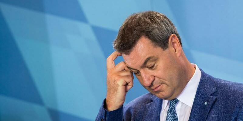 Markus Söder - Foto: Ministerpräsident inSorge: Knapp eine Woche vor der Abstimmung ist rechnerisch das Ende der CSU-Regierungszeit denkbar. Foto:Peter Kneffel
