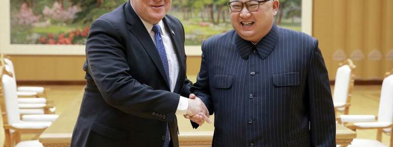 Pompeo in Nordkorea - Foto: KCNA via KNS/AP