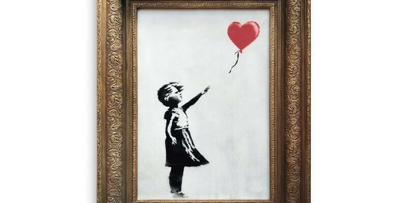 Banksy-Kunstwerk Girk with Ballon - Foto: -/Sotheby's