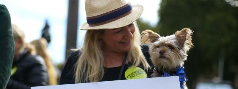 Demonstration mit Hunden - Foto: Tim Ireland