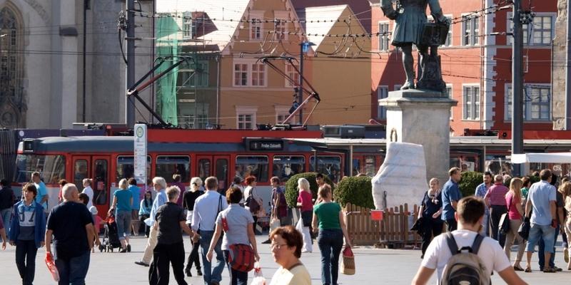 Marktplatz von Halle - Foto: über dts Nachrichtenagentur