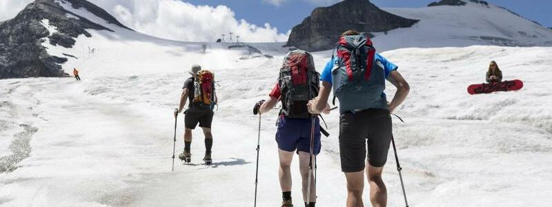 Schmelzende Gletscher - Foto: Dominic Steinmann/Keystone