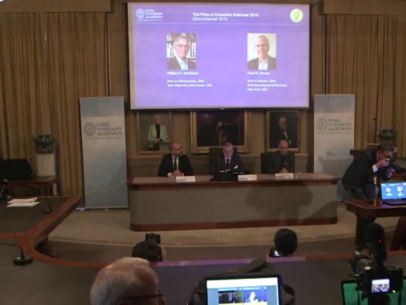 Bekanntgabe Wirtschaftsnobelpreis am 08.10.2018 - Foto: über dts Nachrichtenagentur