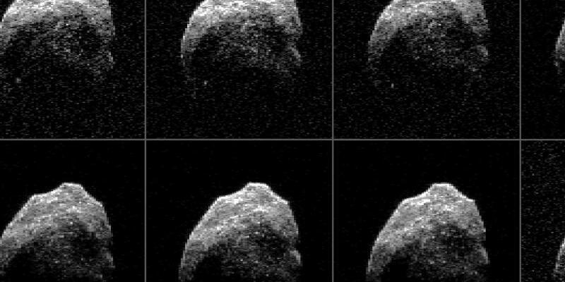Totenkopf-Asteroid - Foto: NASA/JPL-Caltech/GSSR/NRAO/AUI/NSF
