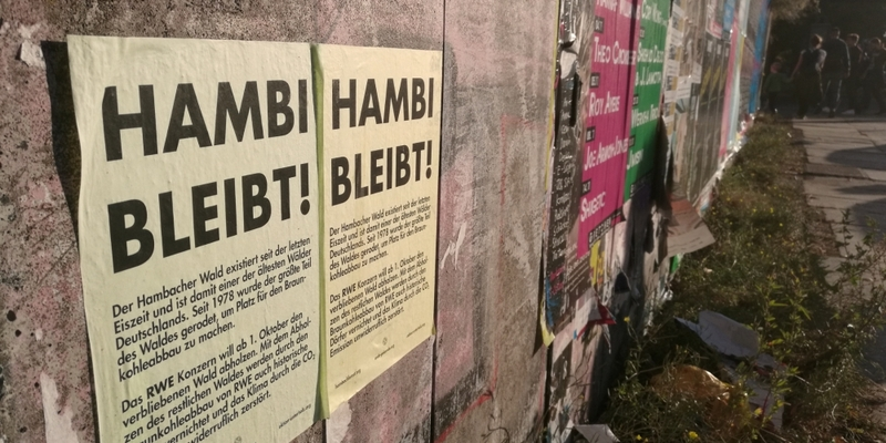 Protest für den Hambacher Forst - Foto: über dts Nachrichtenagentur