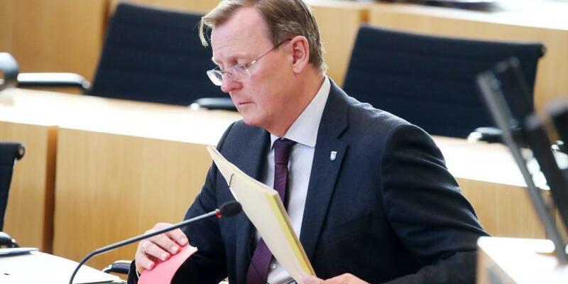 Bodo Ramelow im Erfurter Landtag - Foto: Bodo Schackow