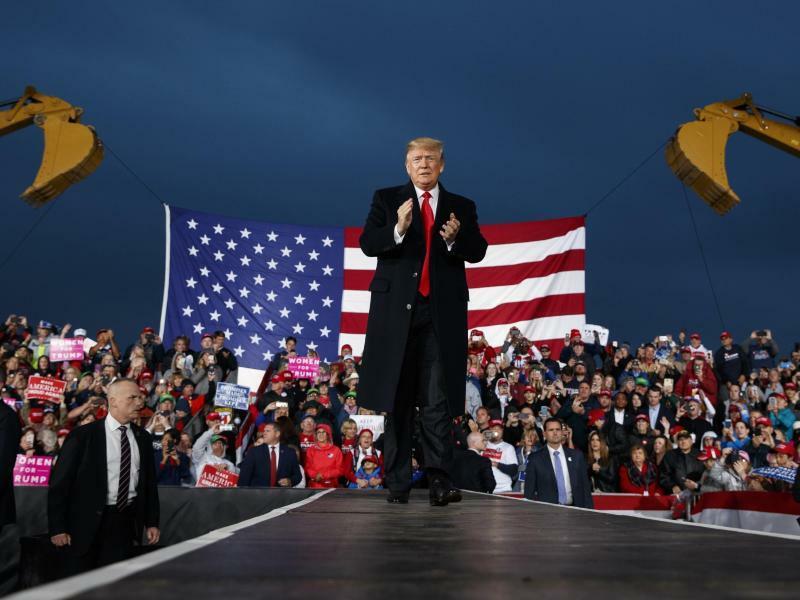 Trump in Ohio - Foto: Evan Vucci/AP