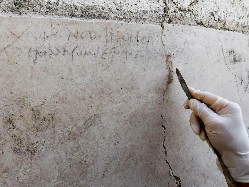 Inschrift in Pompeji - Foto: Ciro Fusco/ANSA/AP