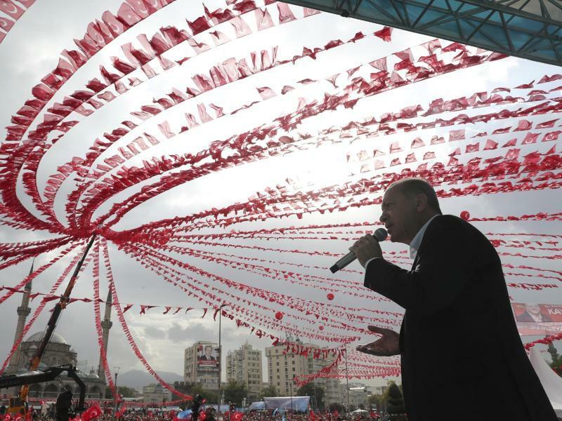 Erdogan in Kayseri - Foto: Pool Presidential Press Service/AP