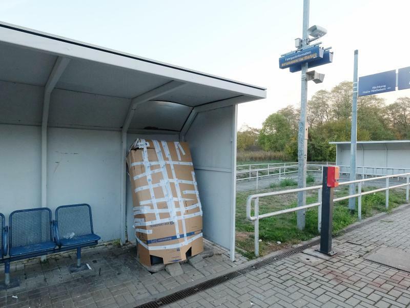 Explosion eines Fahrkartenautomaten - Foto: Sebastian Willnow