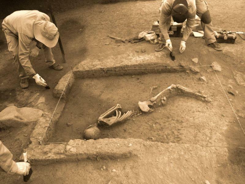 Dreitausend Jahre alte Grabstätte in Peru entdeckt - Foto: Percy Hurtado Santillan/Agentur Andina
