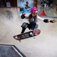 Deutsche Skateboardmeisterin Lilly Stoephasius - Foto: Kay Nietfeld