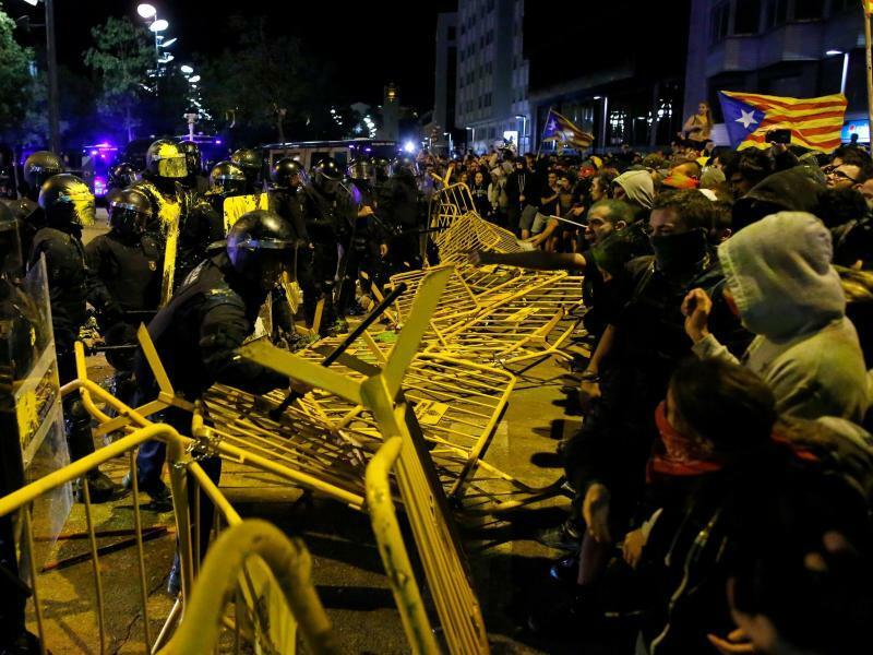 Jahrestag des Katalonien-Referendums - Foto: Manu Fernandez/AP