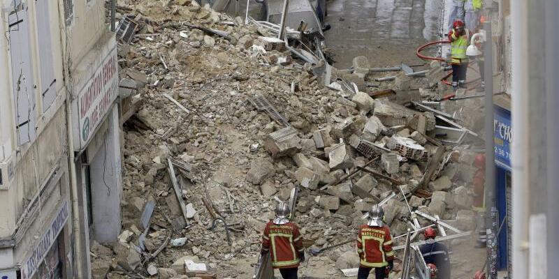 Häuser im Zentrum von Marseille eingestürzt - Foto: Claude Paris/AP