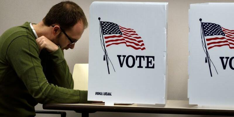 US-Wähler - Foto: Bob Pearson, epa/Archiv