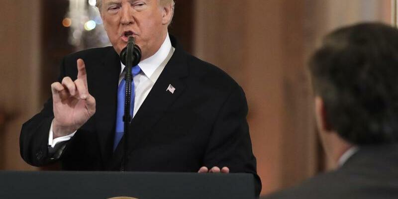 Pressekonferenz - Foto: Evan Vucci/AP