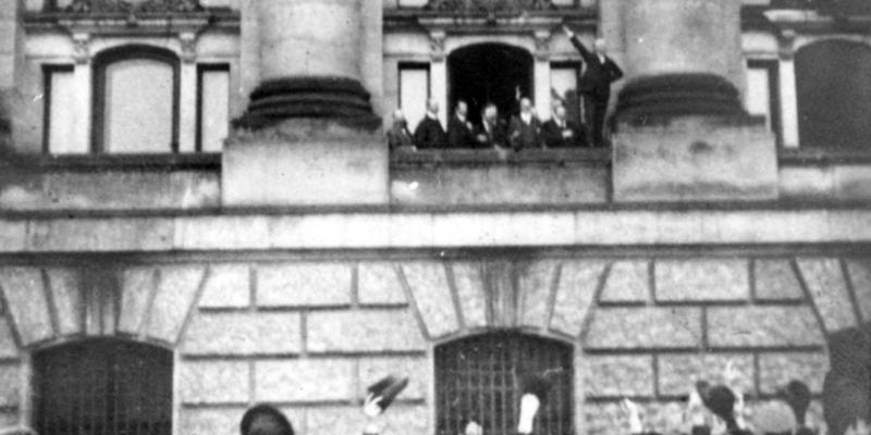 Philipp Scheidemann ruft am 9. November 1918 die Republik aus - Foto: über dts Nachrichtenagentur