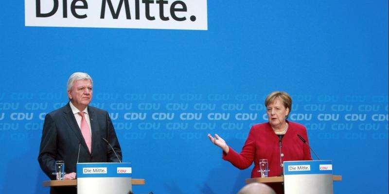 Volker Bouffier und Angela Merkel am 29.10.2018 - Foto: über dts Nachrichtenagentur