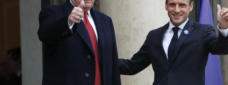 Macron empfängt Trump - Foto: Thibault Camus/AP
