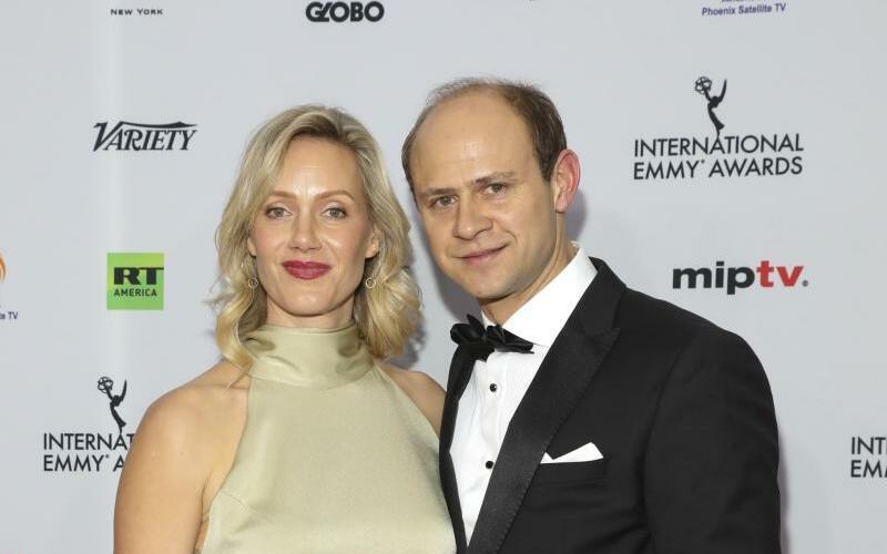 International Emmy Awards - Foto: Anna Schudt kommt mit ihrem Mann Moritz Führmann zur Verleihung der 46. International Emmy Awards. Foto: