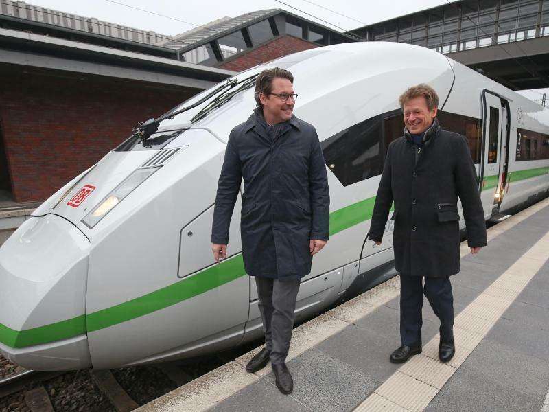 Bundesverkehrsminister Scheuer und Bahnchef Lutz - Foto: Wolfgang Kumm