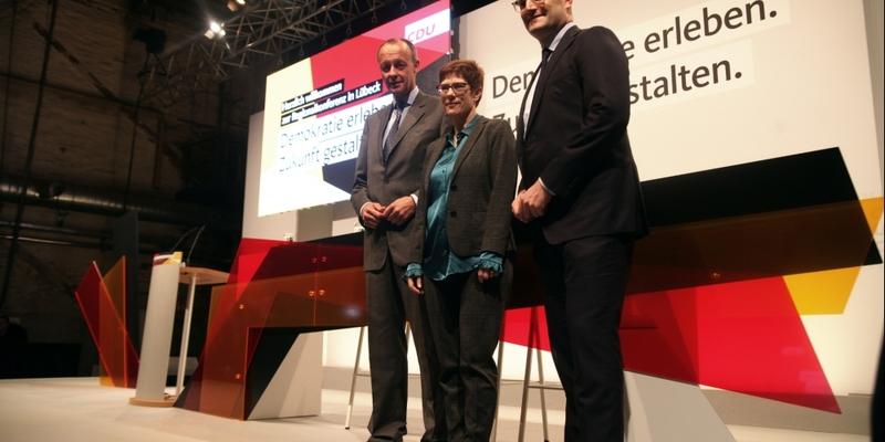 Friedrich Merz, Annegret Kramp-Karrenbauer und Jens Spahn - Foto: über dts Nachrichtenagentur