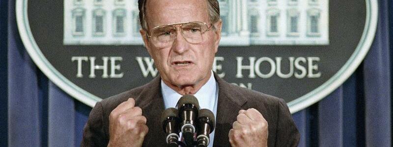 George Bush im Weißen Haus - Foto: Marcy Nighswander/AP/Archiv