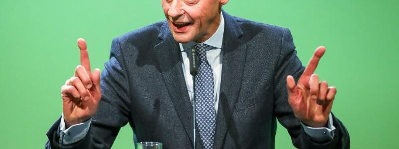 Merz spricht in Leipzig - Foto: Jan Woitas