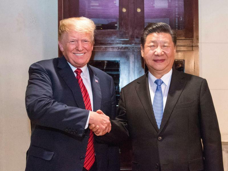 Donald Trump und Xi Jinping in Peking - Foto: XinHua