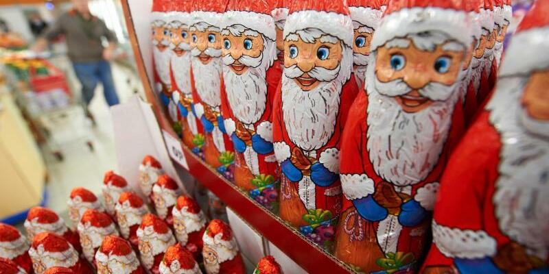 Schokoladen-Weihnachtsmänner - Foto: Bernd Thissen