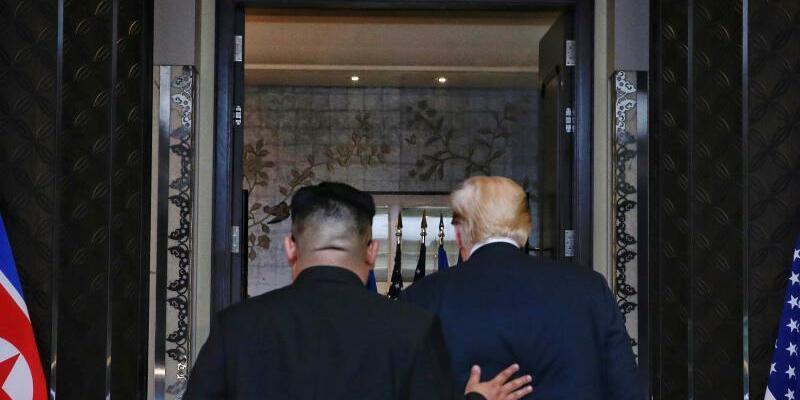 Trump und Kim Jong Un - Foto: Kevin Lim/The Straits Times