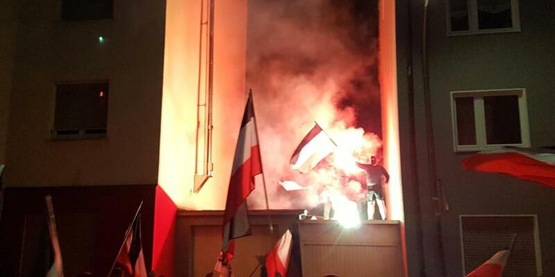 Rechtsextremen-Demo - Foto: Robert Rutkowski