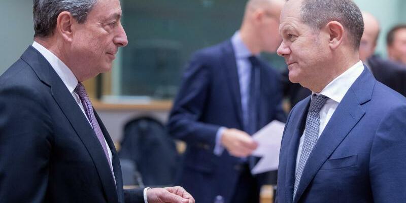Draghi und Scholz - Foto: XinHua