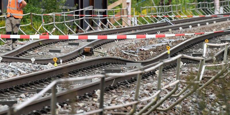 Baustelle der Rheintalbahn - Foto: Uli Deck