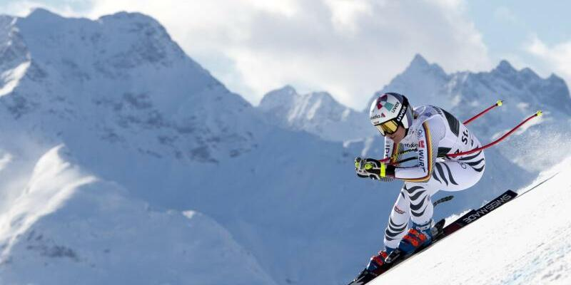 Viktoria Rebensburg - Foto: Jean-Christophe Bott/KEYSTONE