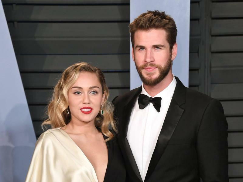 Miley Cyrus &Liam Hemsworth - Foto: PA