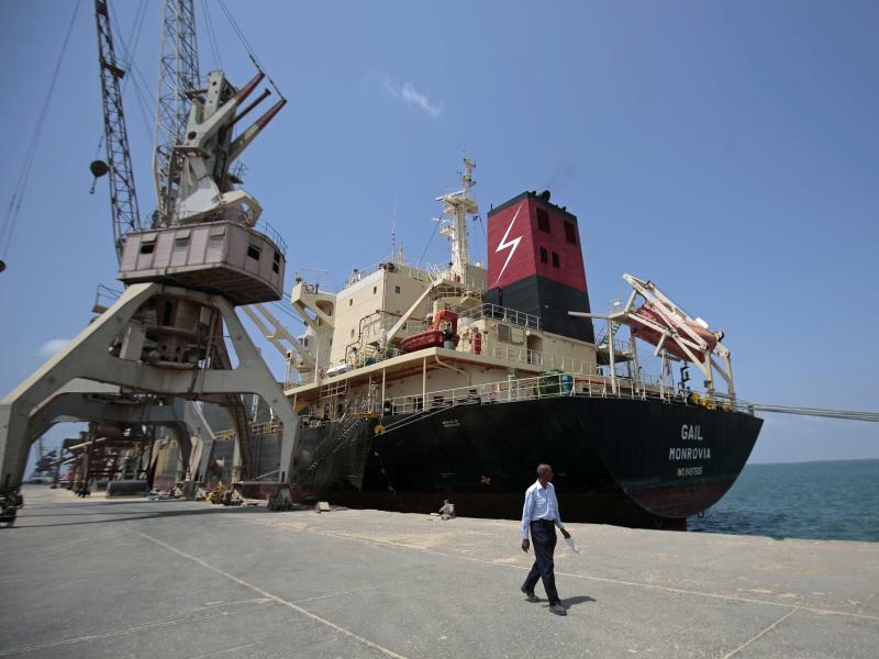 Hafen von Hudaida - Foto: Hani Mohammed/AP