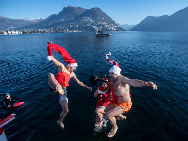 Winterschwimmen - Foto: Francesca Agosta/Keystone/TI-Press
