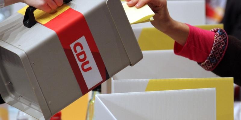 Wahlurne auf CDU-Parteitag - Foto: über dts Nachrichtenagentur
