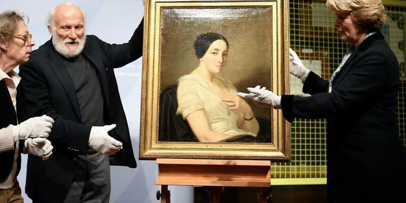 Rückgabe eines NS-Raubkunst-Gemäldes - Foto: Britta Pedersen