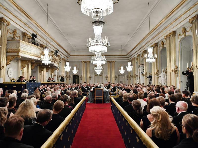 Sitzung der Schwedischen Akademie - Foto: Henrik Montgomery/TT NEWS AGENCY/AP