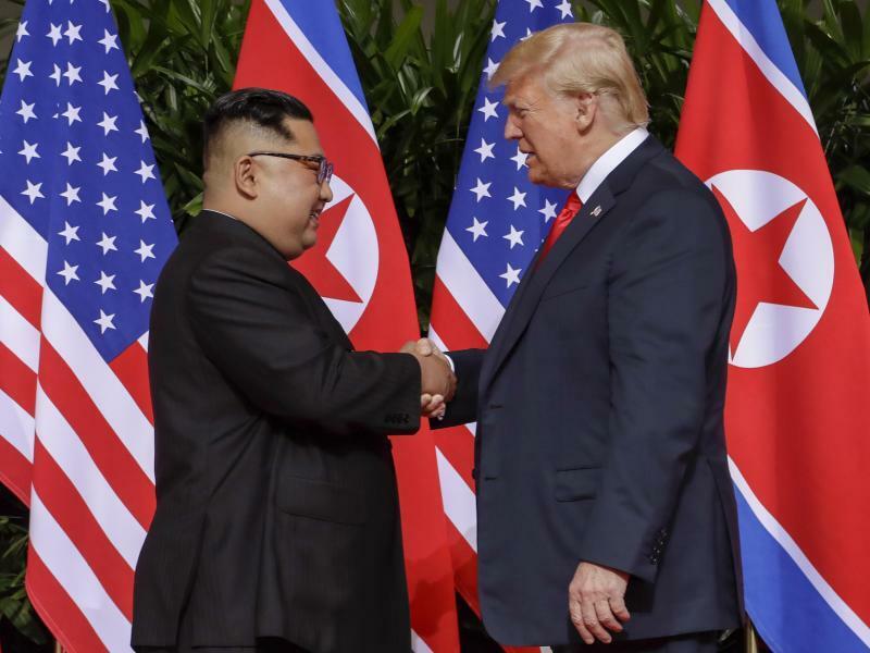 Kim Jong Un und Donald Trump - Foto: Evan Vucci/AP/Archiv