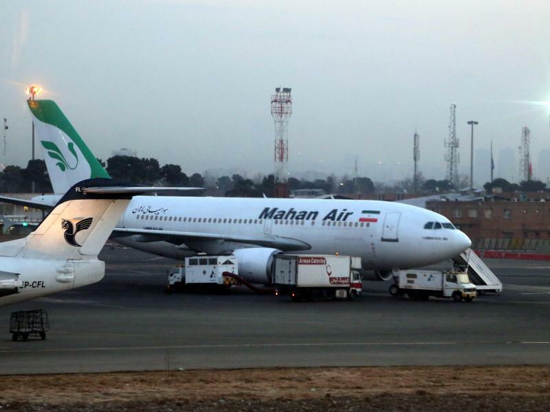 Mahan Air in Tehran - Foto: Abedin Taherkenareh/EPA/Illustration