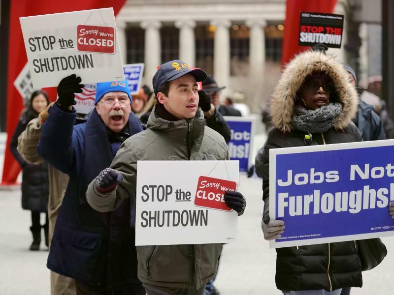 Demonstration gegen Shutdown - Foto: Wang Ping/Xinhua