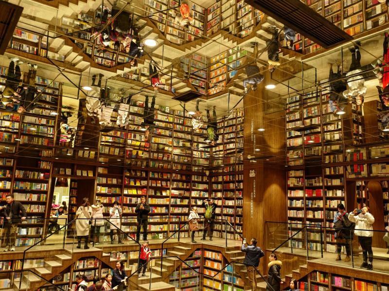 Spektakuläre Buchhandlung - Foto: Liu Chan/XinHua/dpa