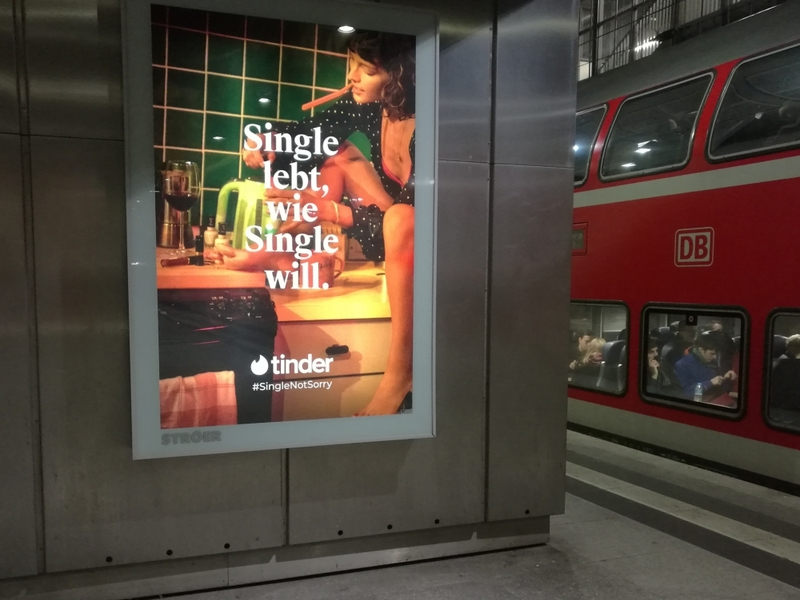 Tinder-Werbung - Foto: über dts Nachrichtenagentur
