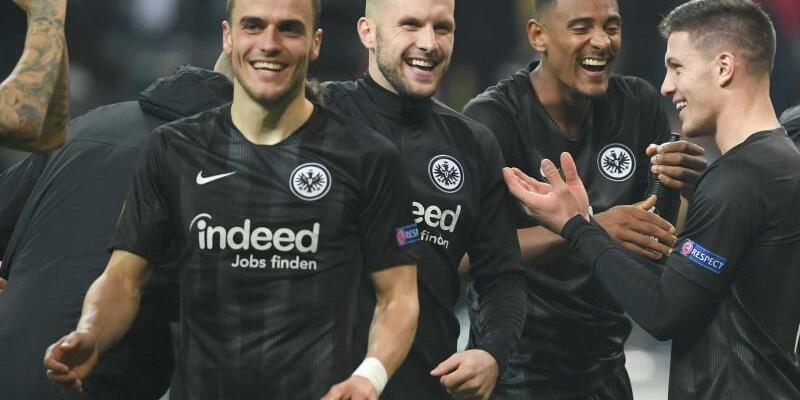 Motiviert - Foto: Eintracht Frankfurt geht zuversichtlich in die Spiele gegen Schachtjor Donezk. Foto:Arne Dedert