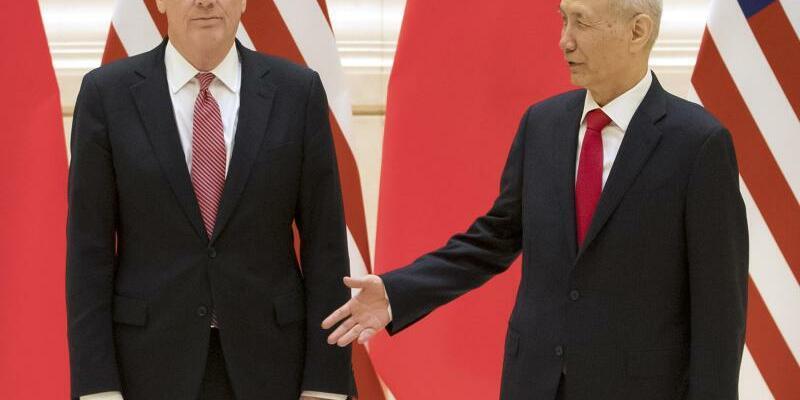 Treffen in Peking - Foto: Mark Schiefelbein/Pool AP