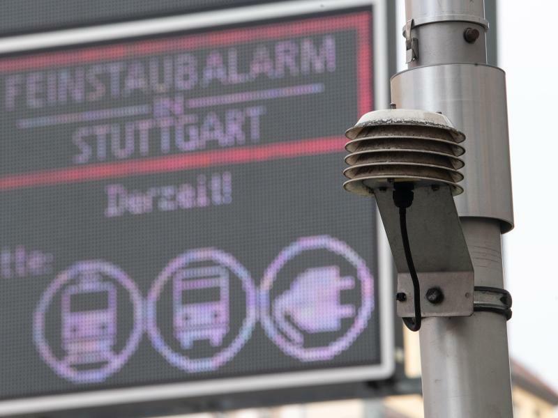 Messstation in Stuttgart - Foto: Sebastian Gollnow